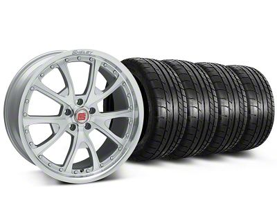Staggered Shelby CS40 Silver Machined Wheel & Mickey Thompson Tire Kit - 20x9/10 (05-12 All)
