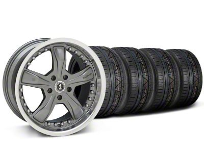 Staggered Shelby Razor Gunmetal Wheel & NITTO INVO Kit - 20x9/10 (05-14 All, Excluding 13-14 GT500)