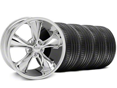 Foose Legend Chrome Wheel & Sumitomo Tire Kit - 18x8.5 (05-10 GT, V6)