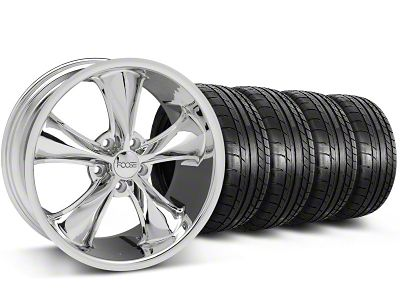 Foose Legend Chrome Wheel & Mickey Thompson Tire Kit - 18x8.5 (05-10 GT, V6)