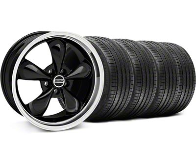 Bullitt Black Wheel & Sumitomo Tire Kit - 17x9 (87-93 w/ 5 Lug Conversion)