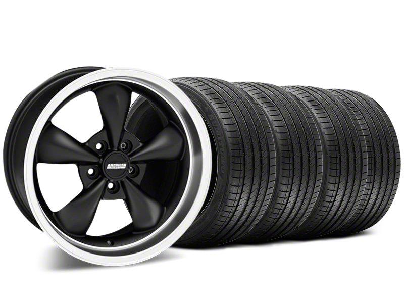 Bullitt Matte Black Wheel & Sumitomo Tire Kit - 17x9 (87-93 w/ 5 Lug Conversion)
