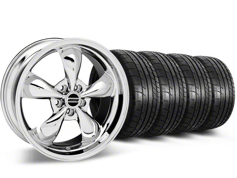 Bullitt Chrome Wheel & Mickey Thompson Tire Kit - 17x9 (87-93 w/ 5 Lug Conversion)