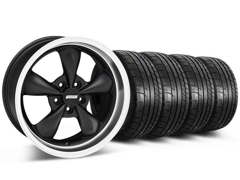 Bullitt Matte Black Wheel & Mickey Thompson Tire Kit - 17x9 (87-93 w/ 5 Lug Conversion)