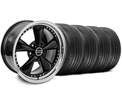 Bullitt Motorsport Black Wheel & Sumitomo Tire Kit - 18x9 (87-93 w/ 5 Lug Conversion)