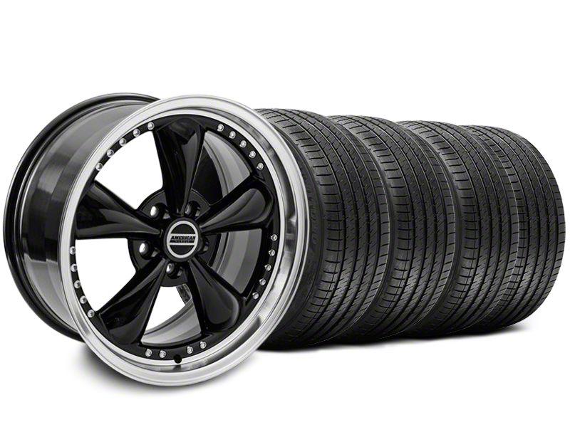 Bullitt Motorsport Black Wheel & Sumitomo Tire Kit - 18x9 (87-93 w/ 5 Lug Conversion)