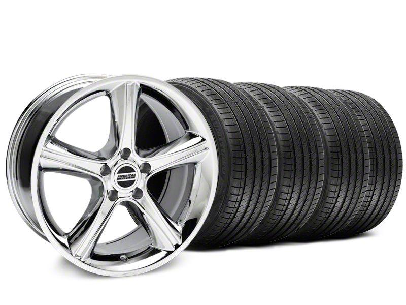 2010 GT Premium Style Chrome Wheel & Sumitomo Tire Kit - 18x9 (87-93 w/ 5 Lug Conversion)