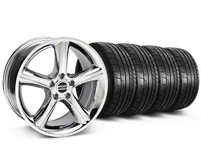 2010 GT Premium Style Chrome Wheel & Mickey Thompson Tire Kit - 18x9 (87-93 w/ 5 Lug Conversion)