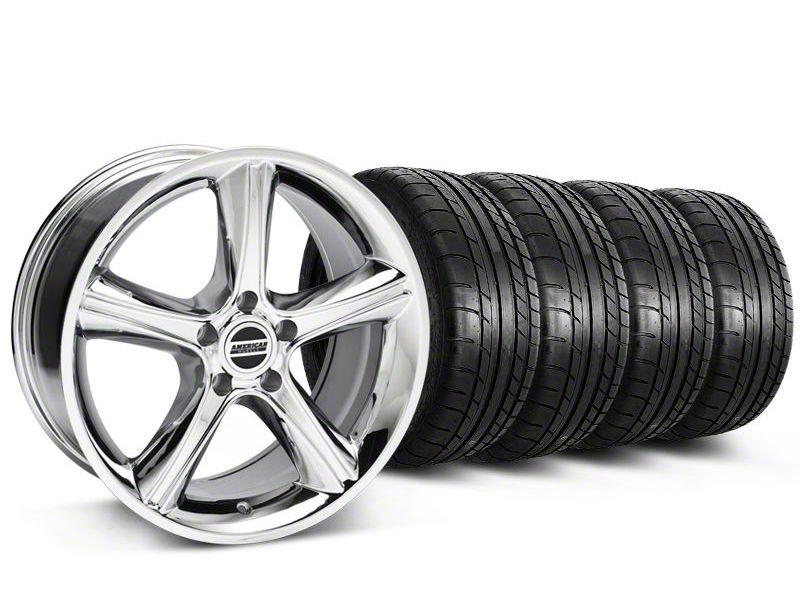 2010 GT Premium Style Chrome Wheel & Mickey Thompson Tire Kit - 18x9 (87-93 w/ 5 Lug Conversion)
