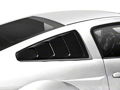 MMD Quarter Window Louvers - Matte Black (05-14 Coupe)