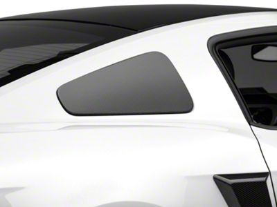 MMD GT350 Style Window Covers - Carbon Fiber (10-14 Coupe)