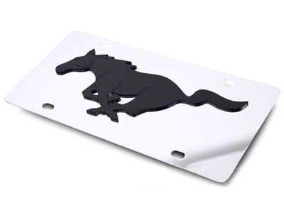 SpeedForm Front License Plate - Black Pony on Mirror (79-19 All)