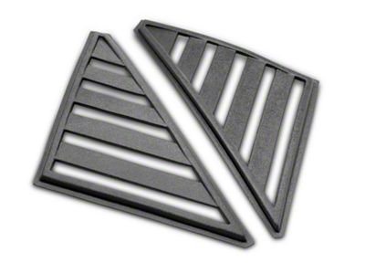 SpeedForm Hatchback Quarter Window Louvers - Unpainted (79-86 Hatchback)