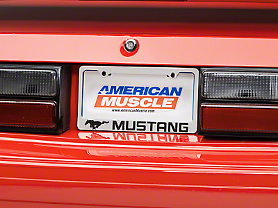 License Plates & License Plate Frames<br />('79-'93 Mustang)