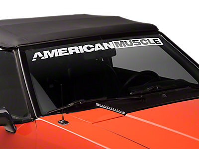 Mustang Window Banners & Decals 1979-1993