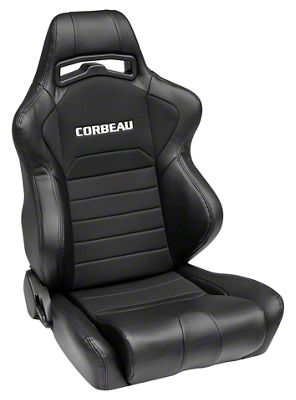 Corbeau LG1 Racing Seat - Black - Pair (79-19 All)