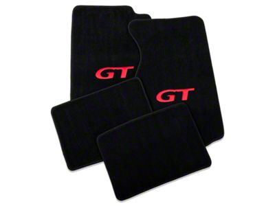 Lloyd Front & Rear Floor Mats w/ Red GT Logo - Black (99-04 All)