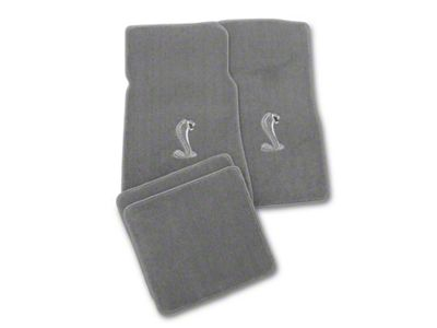 Lloyd Front & Rear Floor Mats w/ Cobra Logo - Gray (79-93 All)