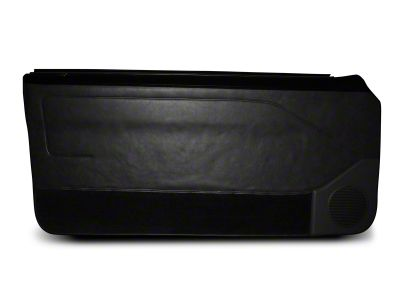 OPR Door Panels w/ Manual Windows & Carpeting - Black (87-93 Coupe, Hatchback)