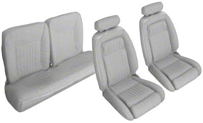 OPR Titanium Gray Front & Rear Sport Seat Upholstery (90-91 Hatchback)