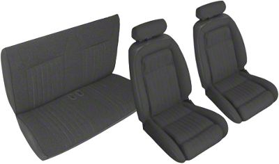 OPR Black Front & Rear Sport Seat Upholstery (90-91 Convertible)