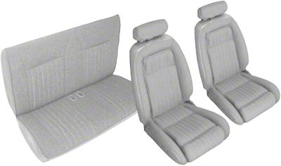 OPR Titanium Gray Front & Rear Sport Seat Upholstery (90-91 Convertible)