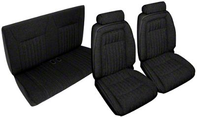OPR Black Front & Rear Sport Seat Upholstery (92-93 Convertible)