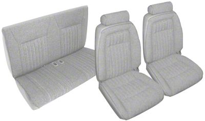 OPR Titanium Gray Front & Rear Sport Seat Upholstery (1992 Convertible)