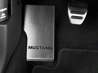 Modern Billet Dead Pedal Cover - Mustang Logo (05-14 All)