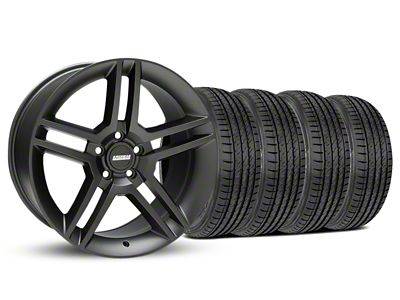 Staggered 2010 GT500 Style Matte Black Wheel & Sumitomo Tire Kit - 19x8.5/10 (05-14 All)