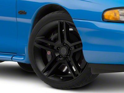 2010 GT500 Style Matte Black Wheel - 19x8.5 (94-04 All)
