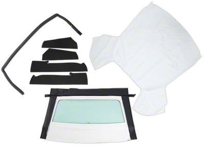 OPR Convertible Top Resto Kit - White (85-90 Convertible)