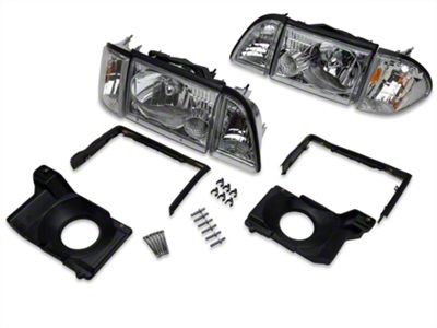 Axial Chrome Headlights and Adjusting Plate Kit (87-93 All)