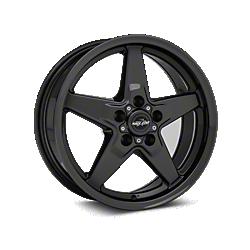 Black Chrome Race Star Drag Star Wheels (1987-1993 5 Lug Conversion)