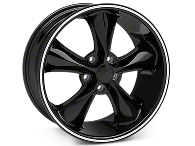 Black Foose Legend Wheels<br />('15-'20 Mustang)