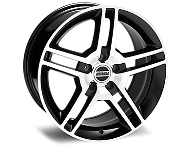 Black Machined 2010 GT500 Style Wheels<br />('10-'14 Mustang)