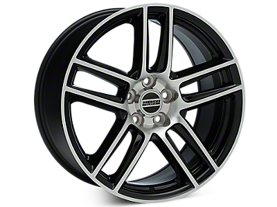Black Machined Boss Laguna Seca Style Wheels<br />('15-'21 Mustang)