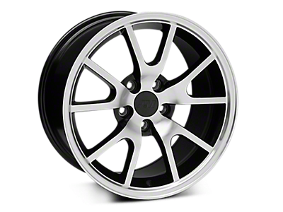 Black Machined FR500 Wheels<br />('94-'98 Mustang)