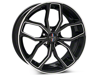 Black Machined Foose Outcast Wheels<br />('15-'20 Mustang)