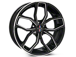 Black Machined Foose Outcast Wheels<br />('05-'09 Mustang)