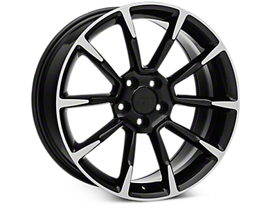 Black Machined GT/CS Style Wheels<br />('15-'20 Mustang)
