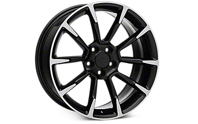 Black Machined GT/CS Style Wheels 2005-2009