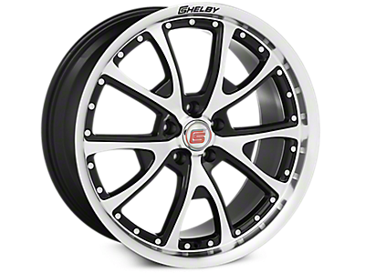 Black Machined Shelby CS40 Wheels<br />('15-'21 Mustang)