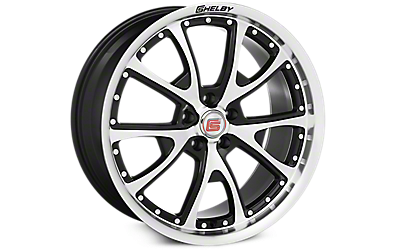 Black Machined Shelby CS40 Wheels 2005-2009