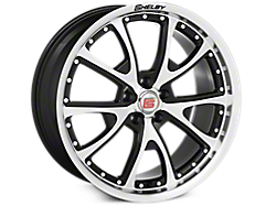 Black Machined Shelby CS40 Wheels<br />('05-'09 Mustang)