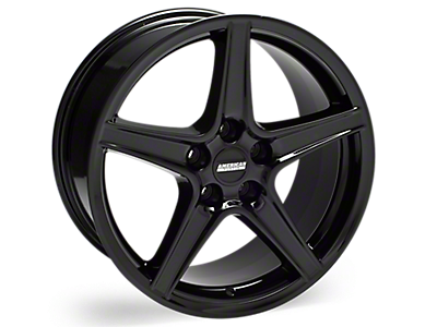 Black Saleen Style Wheels<br />('15-'20 Mustang)