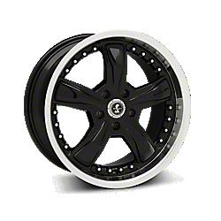 Black Shelby Razor Wheels 2005-2009
