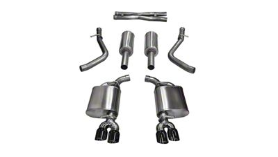 Corsa Sport Cat-Back Exhaust w/ Twin Black Round Tips (15-16 5.7L HEMI)
