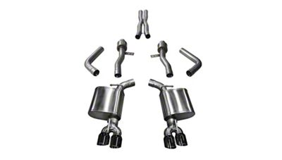Corsa Sport Cat-Back Exhaust w/ Twin Black Round Tips (15-19 6.2L HEMI)