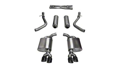 Corsa Xtreme Cat-Back Exhaust w/ Twin Black Round Tips (15-16 5.7L HEMI)